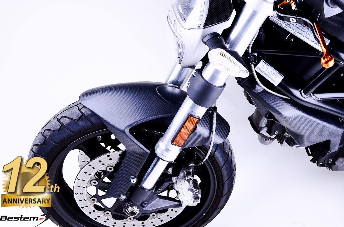 Ducati Monster 696 796 1100 100 Carbon Fiber Front Fender Matte Finish