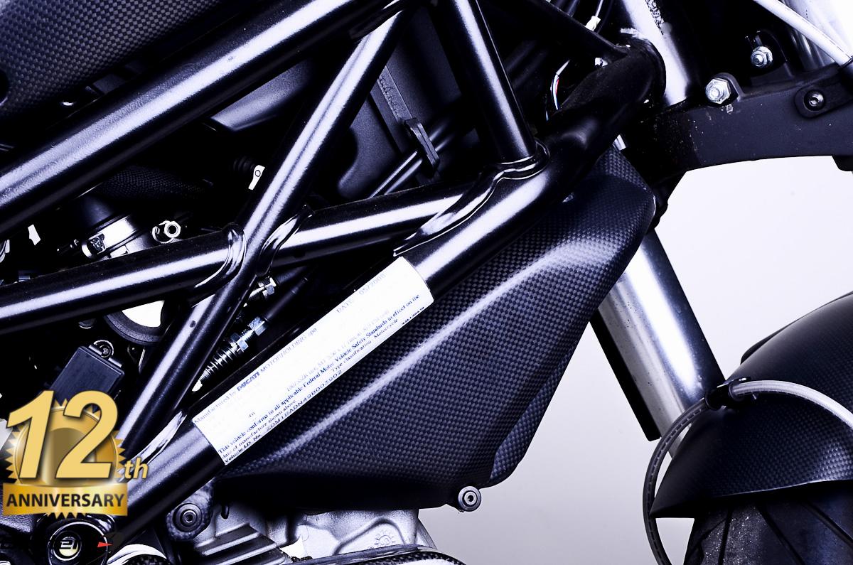 Ducati Monster 696 796 1100 100 Carbon Fiber Radiator Side Covers