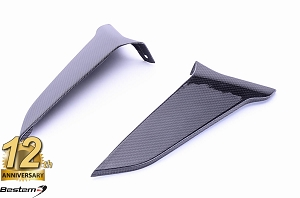 BMW K1300S  100% Carbon Fiber Knee Fairing Inserts