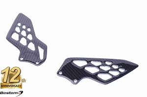 BMW S1000RR 2009 - 2018  100% Carbon Fiber Heel Guards, OEM Style, Twill Weave