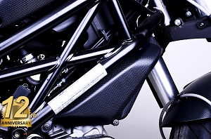 Ducati Monster 696 796 1100 100% Carbon Fiber Radiator Side Covers, Matte Finish
