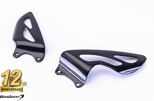 Triumph Daytona 675 100% Carbon Fiber Heel Guards