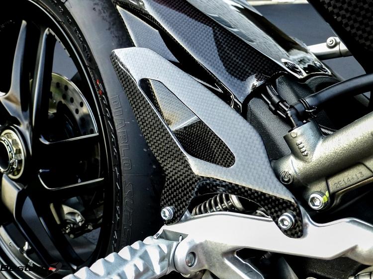 Ducati 1199 1299 Panigale 100 Carbon Fiber Heel Guard Plates L R