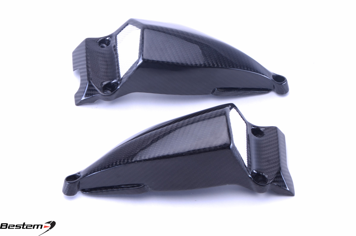 Ducati Streetfighter 848 100 Carbon Fiber Air Intake Covers 2 Twill