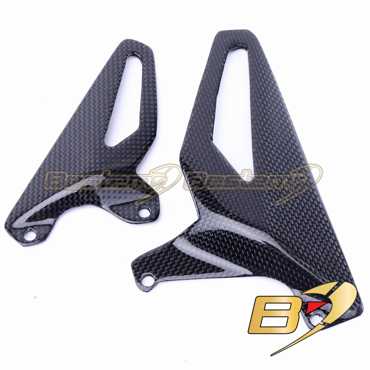 Ducati Panigale V4 Carbon Fiber Heel Guards Rearset Plates