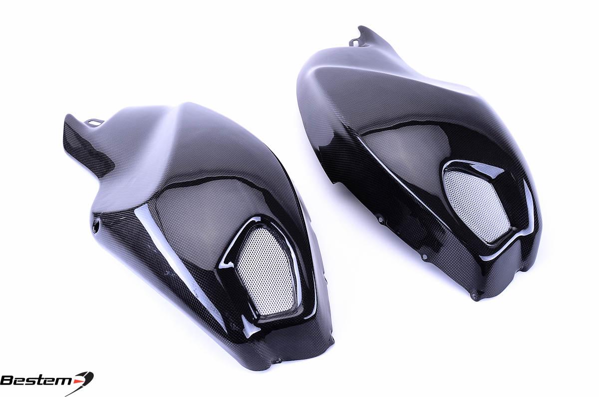 Ducati Monster 696 796 1100 100 Carbon Fiber Side Tank Covers