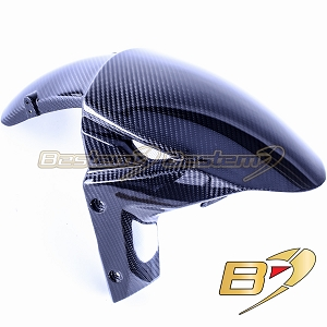 2015-2018 H2 H2R Front Tire Fender Mud Guard Hugger Cowl Fairing Carbon Fiber,  Twill