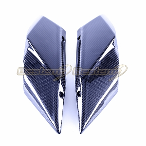2015-2018 Ninja H2 H2R Rear Tail Side Seat Trim Cover Fairing Cowl Carbon Fiber,  Twill