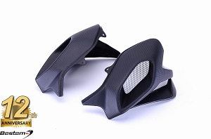 MV Agusta Brutale 1090/990/920 100% Carbon Fiber Fuel Tank Covers with Air Duct, Matte finish