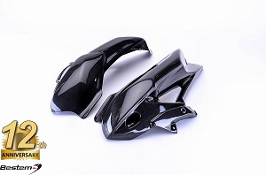 Triumph Tiger 800 100% Carbon Fiber Upper Radiator Covers (L+R)