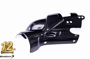Yamaha R1 2009 - 2014 100% Carbon Fiber Brake Rearset Exhaust Heat Shield Cover Panel Fairing