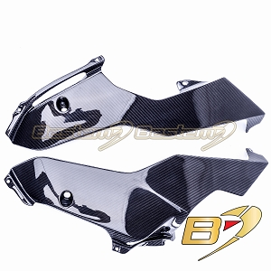 Yamaha R6 2017 2018 Carbon Fiber Lower Side Fairings Oil Belly Pan Guard Panels  Twill Weave