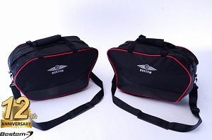 Ducati Multistrada 1200 2010 - 2014 Saddlebag Liners Sideliners with Red Piping - Pair