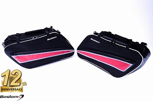 Harley Davidson Glide/Road King Hard Saddlebag Side Case Liners, Black, Deluxe Version - Pair