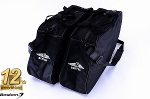 Harley Davidson Glide,Road King Hard Saddlebag Sideliners Side Case Trunk Liners Bags, Black  - Pair