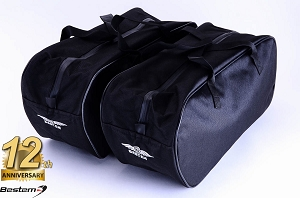 Harley Davidson Road King Saddlebag Sideliners Side Case Trunk Liners Bags,Custom, Black - Pair