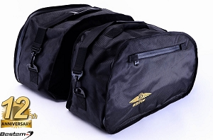 Honda ST1100 PanEuropean Saddlebag Sideliners Side Case Trunk Liners Bags, Black - Pair