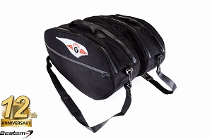 Kawasaki Vulcan 1700 Voyager Nomad Saddlebag Sideliners Side Case Trunk Liners Bags, Black - Pair
