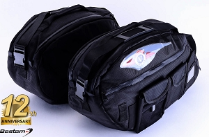 Kawasaki Vulcan Nomad/ Vaquero Saddlebag Sideliners Side Case Trunk Liners Bags, Deluxe, Black - Pair