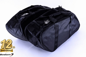 Yamaha Road Star Saddlebag Sideliners Side Case Trunk Liners Bags,Balck - Pair