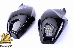 Ducati Monster 696 796 1100 100% Carbon Fiber Side Tank Covers