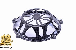 Ducati Press Mold 100% Carbon Fiber Dry Clutch Cover, Open Style 2