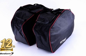 Victory Cross Roads Cross Country Saddlebag Sideliners Side Case Trunk Liners Bags,Balck - Pair
